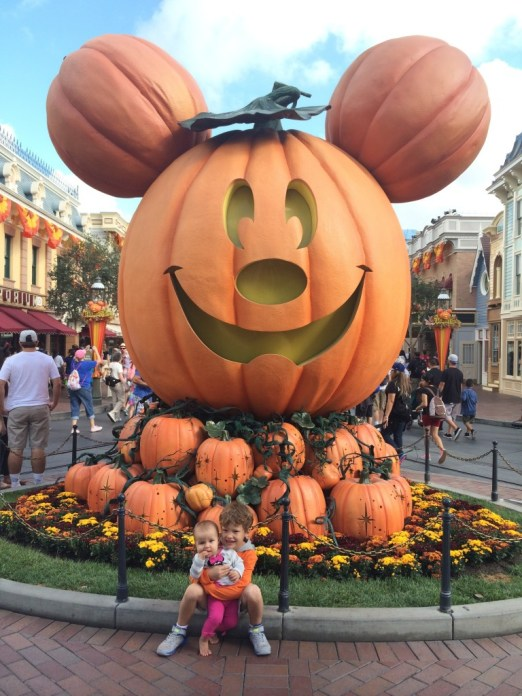 Pumpkin Mickey Mouse at Disneyland's Halloween Time