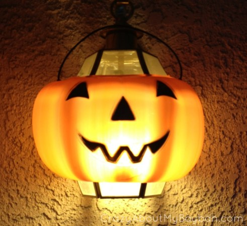 Easy Halloween Craft | Pumpkin Light #Halloween #Pumpkin