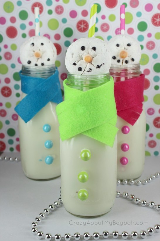 Snowman Donuts and Milk #Craft #DIY #RECIPE