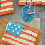 American Flag Cookie Bars