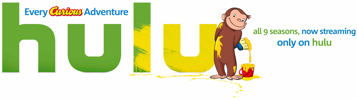 Watch Curious George Now on HULU!