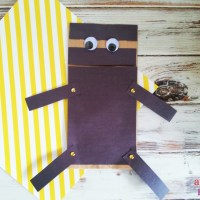 Paper Bag Ninja Puppet Craft