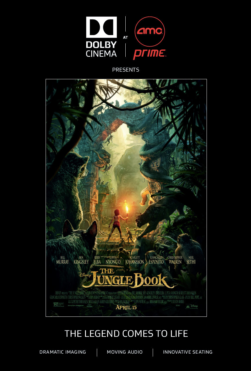 The Jungle Book in Dolby Cinema at AMC