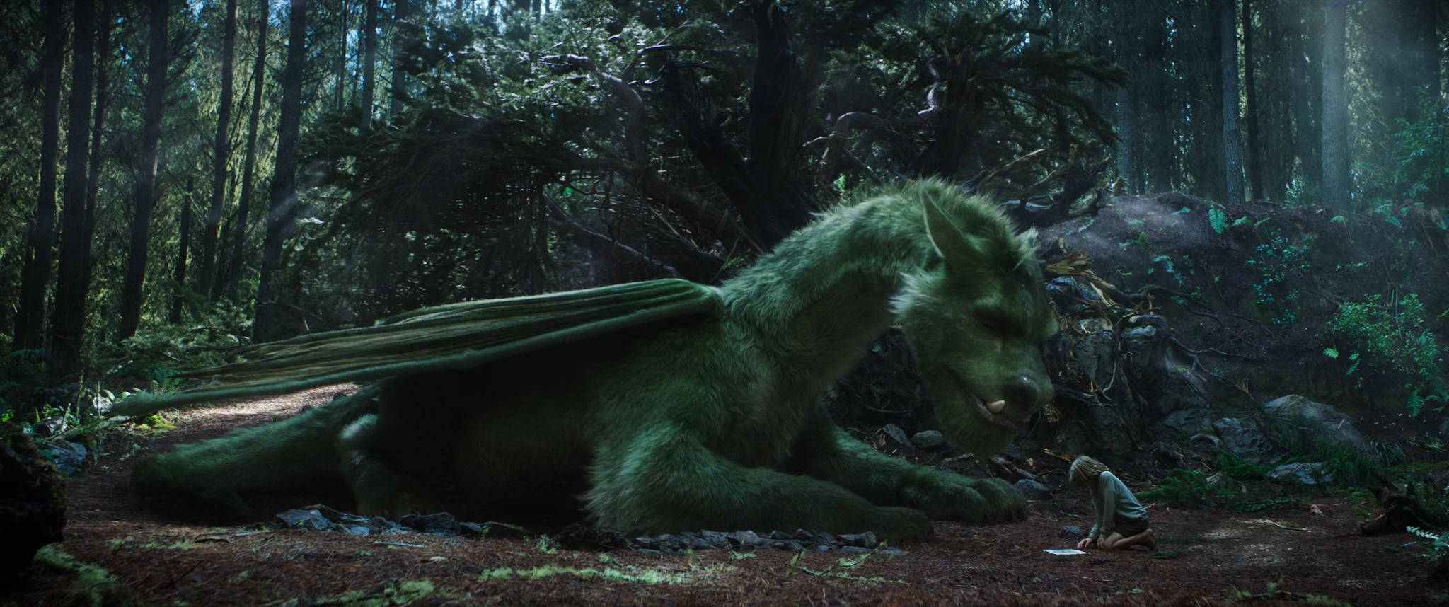 Elliot and Pete in Disney's Pete's Dragon Movie Review