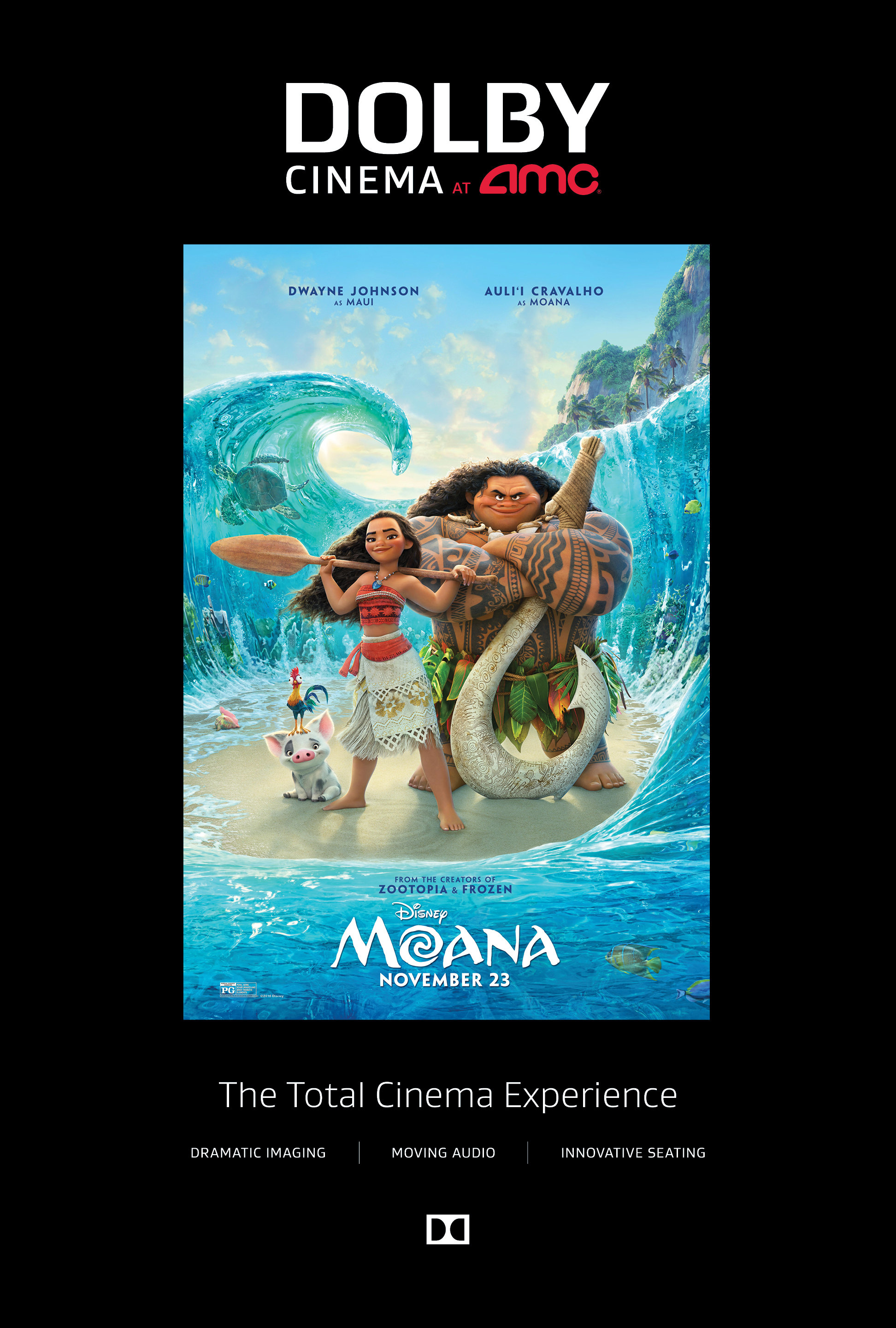 Watch Disney's Moana in Dolby Cinema at AMC Prime