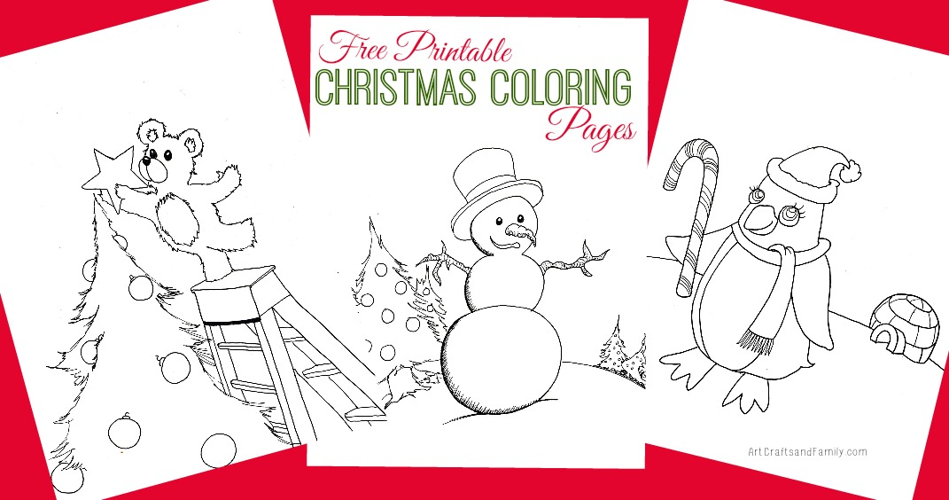 Printable Christmas Coloring Pages.Free Printable Christmas Coloring Pages Art Crafts Family