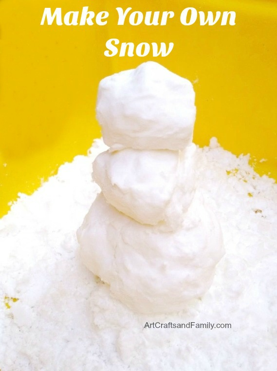 Make Your Own Snow Craft for Kids! This quick and easy kids craft is perfect for winter!