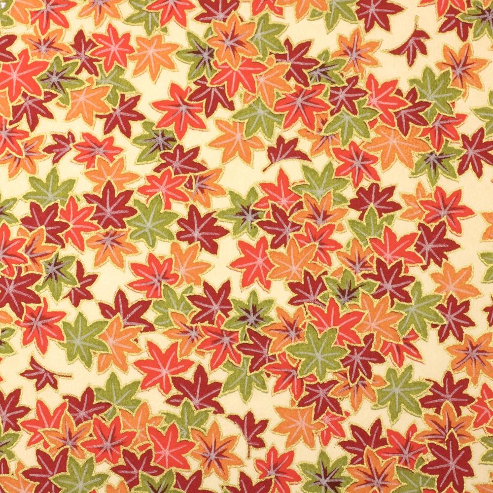 Japanese Chiyogami Paper Autumn Maple 621c Artcuts