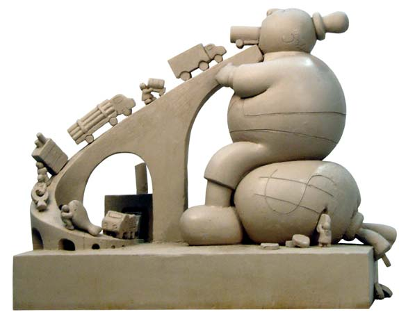 Tom Otterness, Medium Consumer, 2007