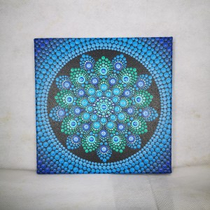 Azul One-Of-A-Kind Acrylic Dot-Painting (20cm x 20cm Canvas)