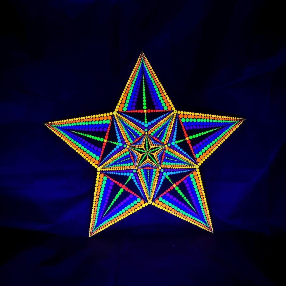 The Sacred Star UV Painting