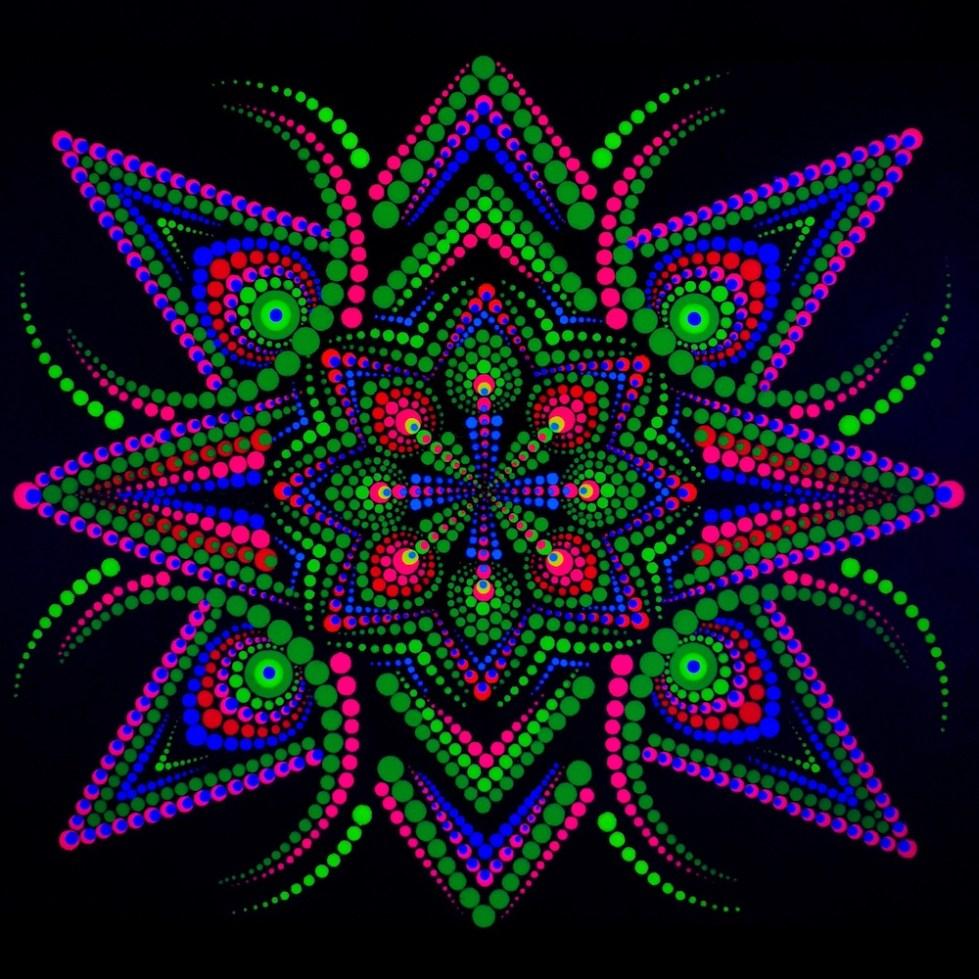 Økologisk Portal UV Dot Maleri