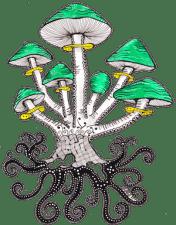 The little green mushroom familiy - ArtDecoByNatasha