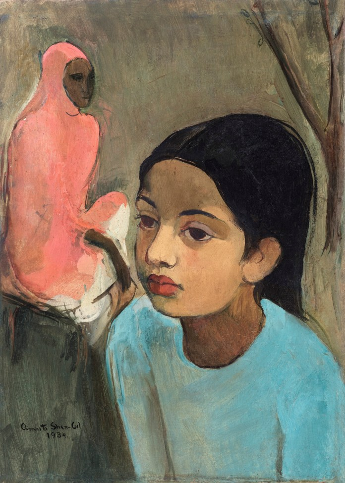 amrita shergil girl in blue