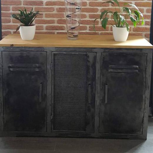 art design acier meuble industriel