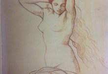 Hyppolyte Flandrin - study of a woman