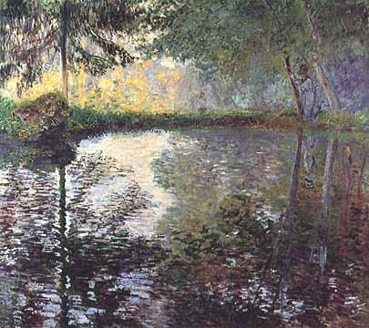 "Claude Monet, ""Etang à Montgeron (Lo stagno di Montgeron)"", 1876, Museo dell'Ermitage (The State Hermitage Museum), San Pietroburgo (St. Petersburg)"