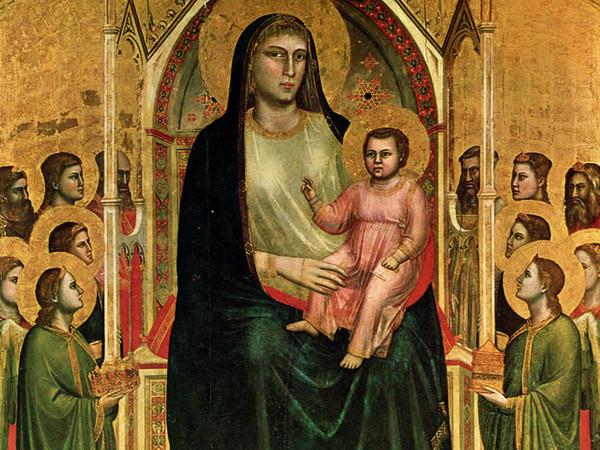 Obra de Giotto nos Uffizi, Florença.