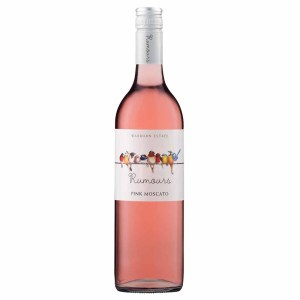 Warburn Estate Rumours Pink Moscato. COLOUR: Vivid rose pink. NOSE: A lifted nose of fresh strawberries and cream. PALATE: The palate displays cherry and strawberries, finishing with a light spritz.