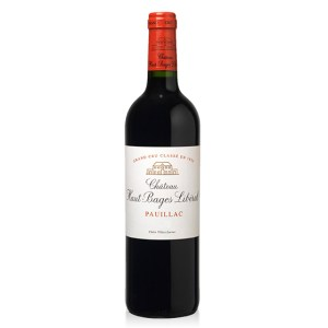 Chateau Haut Bages Liberal, Pauillac EN1855 Grand Cru Classe. The nose is complex with notes of cassis, smoky and a hint of cedar. The mouth is also fruity with a slightly spicy touch and show an admirable roundness. An expressive, voluptuous wine with fine, freshness, and a beautiful aromatic persistence.