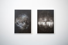 Thomas Scalco, Monochrono, 2015, tecnica mista su tela, cm 100x70 cad