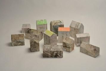 Guido Airoldi, Heimat, 2015, collage e carta da manifesto su legno, dimensioni variabili