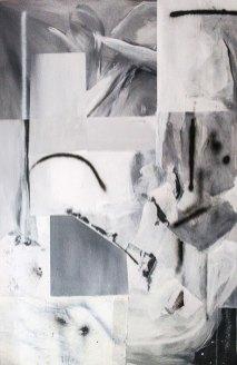 Renato Calaj, Serie 16, 2016, acrilico, olio, enamel e spray paint su tela, cm 120x80