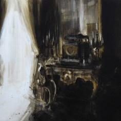 Tina Sgrò, Consolle, 2012, acrilico su tela, cm 100x118