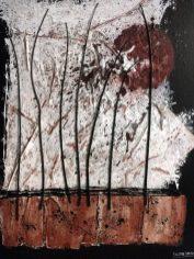 46 Frasche al tramonto, 2016, cm 50x70, mista materica