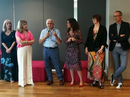 Da sinistra Cristina Guardigli, Monica e Dino Zoli, Nadia Stefanel, Livia Savorelli, Matteo Galbiati