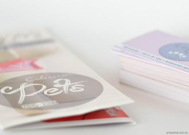 Folleto y tarjetas recorte