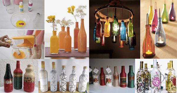 26 trabalhos com garrafas de vidro