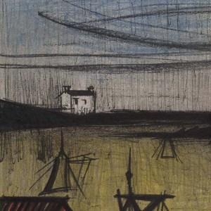 Bernard Buffet, Landscape 2, original Lithograph 1967