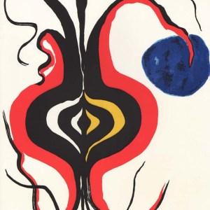 Calder Lithograph, DM08156, Derriere le miroir 1966