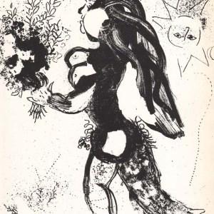 Marc Chagall Original Lithograph, L'ofrande 1960