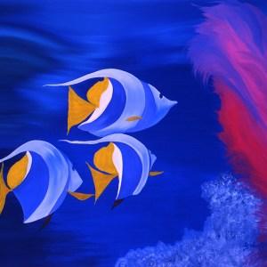 """Absi Grace, """"Aquarium"""" Oil on canvas"""