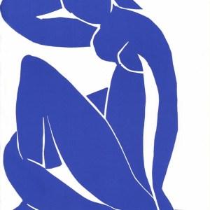Henri Matisse Lithograph, Blue Model 2, 1984