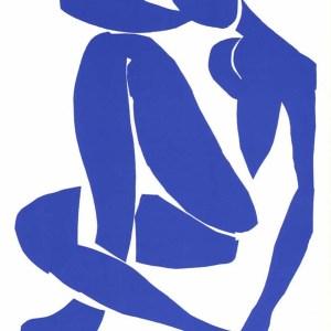 Henri Matisse Lithograph blue Model 4, 1984