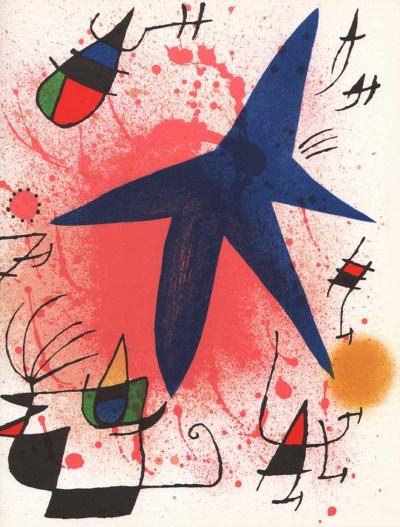 "Joan Miro Original Lithograph ""V1-1"" printed 1970"
