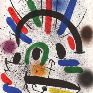 Joan Miro Original Lithograph V1-2 Mourlot 1970