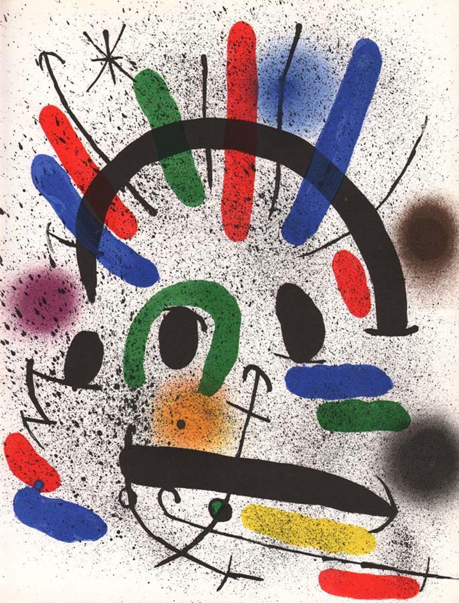 "Joan Miro Original Lithograph ""V1-2"" printed 1970"