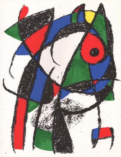 """Miro Original Lithograph """"V2-1"""" printed 1975"""