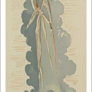 Dali Woodcut, Angel of Seventh Heaven-Paradise 22