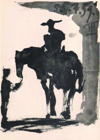 Picasso print toros y toreros 3 dated 5-7-59