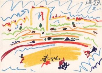 Pablo Picasso, Toros y Toreros 4 dated 1/8/57