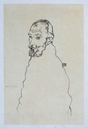 """Schiele Egon, 39, Lithograph,""""Portrait of Franz Hauer"""" 1968"""