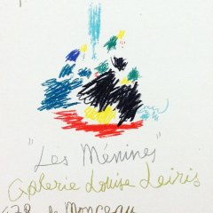 "Picasso 101 Lithograph ""Les menines""1959 Mourlot Art in posters"