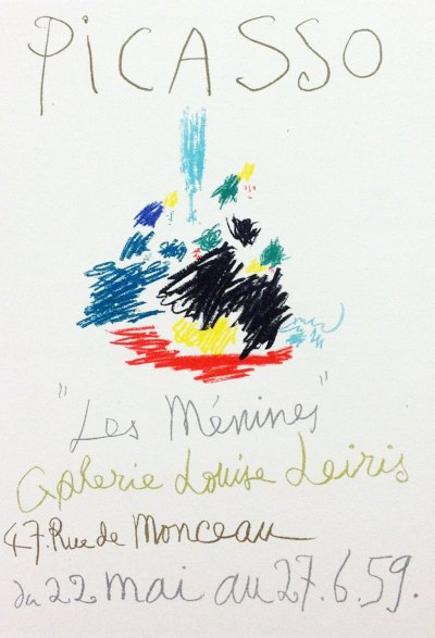 """Picasso 101 Lithograph """"Les menines""""1959 Mourlot Art in posters"""