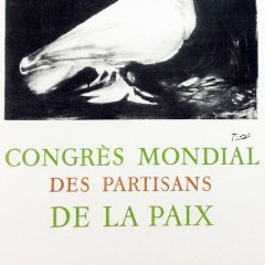 "Picasso 60 Lithograph ""Congress mondial"" 1959 Mourlot Art in posters"