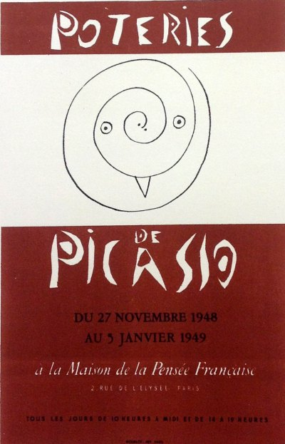 "Picasso 59 Lithograph ""Poteries "" 1959 Mourlot Art in posters"